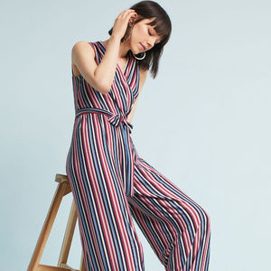 Anthropologie Donna Morgan Striped Jumpsuit NWT